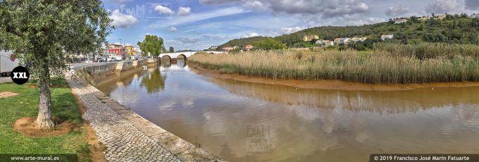 J7429803. Arade rive crossing Silves town, Algarve (Portugal)