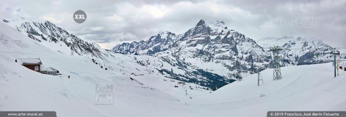 JF750804. Grindelwald-First mountain panorama. Switzerland
