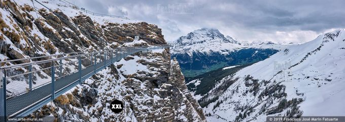 JF752404. Grindelwald-First mountain panorama. Switzerland