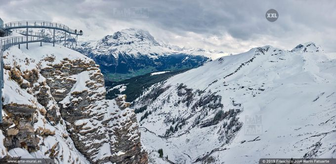 JF753705. Grindelwald-First mountain panorama. Switzerland