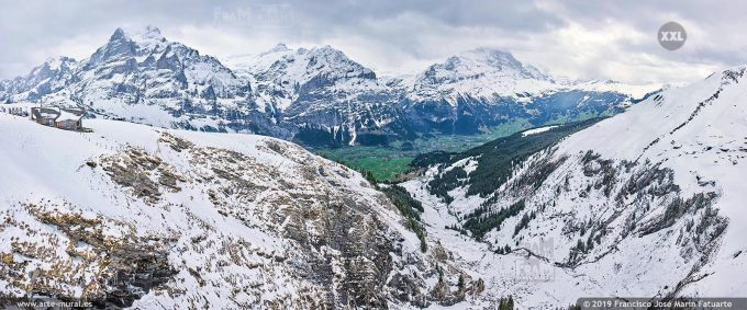 JF755805. Grindelwald-First mountain panorama. Switzerland
