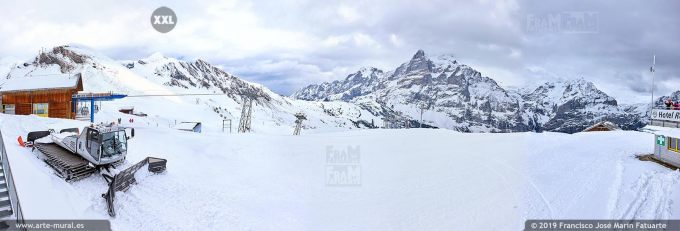 JF761208. Grindelwald-First mountain panorama. Switzerland