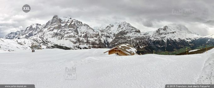 JF762506. Bernese Alps mountain panorama. Switzerland