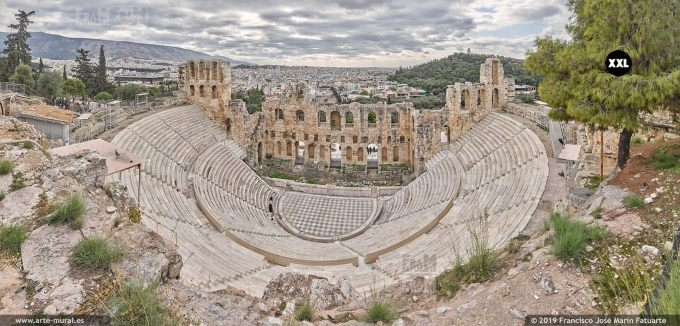 J8082205. Herodes Atticus theatre in Athens (Greece)
