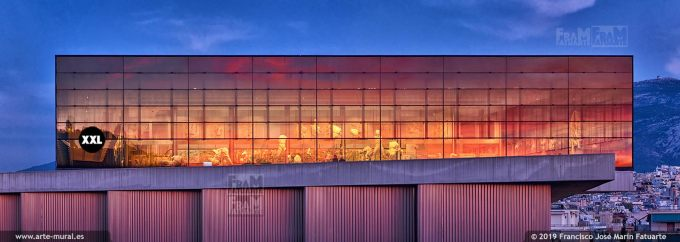 JF328635. Sunset on Acropolis museum, Athens (Greece)