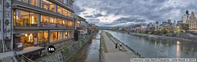 F2522854. Kamagawa river. Kyoto