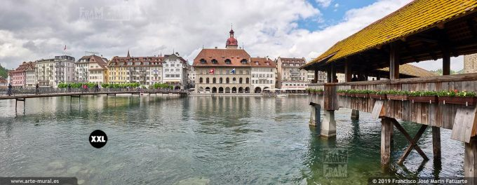JF860003. View of Old Town from River's right bank, Lucern (Switzerland)