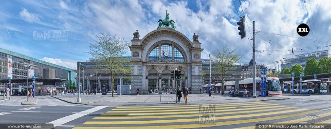 JF886105. Arch at Lucern railway station (Switzerland)
