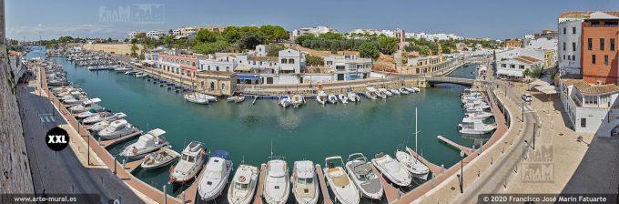 K8515105 View of the old Port of Ciutadella, Menorca (Spain)