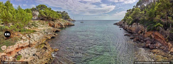 K8577415 Mouth of the torrents Algendar and Algendaret in Cala Galdana, Menorca (SPAIN)