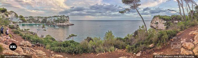 K8588085 Cala Galdana and Morro de Llevant panorama, Menorca (SPAIN)