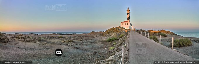 K8720553 Favàritx lighthouse at dusk, Menorca (Spain)