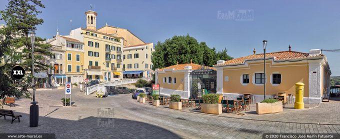 K8733003 City center from Plaza d'Espanya, Mahon, Menorca (SPAIN)