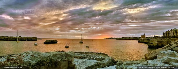 KQ040208 Sunset near Sant Nicolau Castle - Ciudadela, Menorca (Spain)