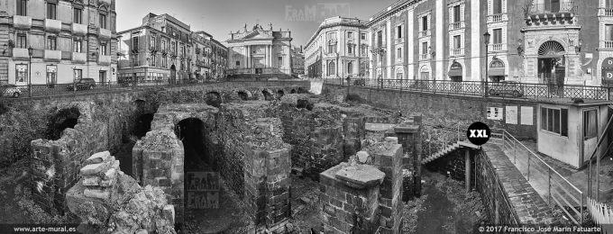 H6100995. Piazza Stesicoro and Roman Amphitheatre. Catania (Italy)