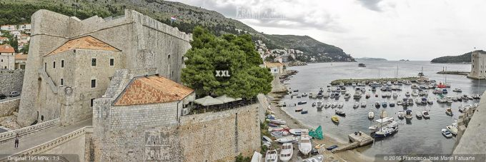 G3826106. Old Port of Dubrovnik from city fortifications (Croatia)