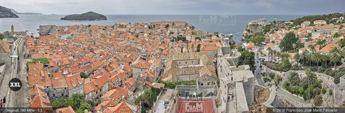 G3839215. Skyline of Dubrovnik old city from walls (Croacia)