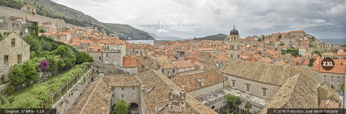 G3843055. Dubrovnik old town from fortifications (Croatia)