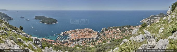 G3917505. Aerial view od Dubrovnik old town (Croacia)