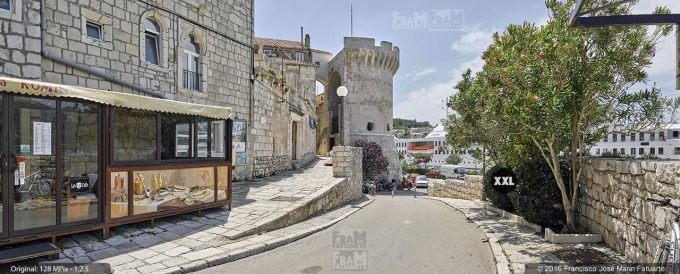 G3797903. Zakerjan tower in Korčula Town (Croatia)