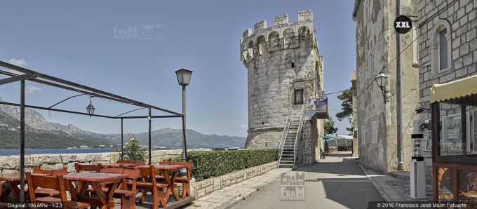 G3798203. Zakerjan tower in Korčula Town (Croatia)