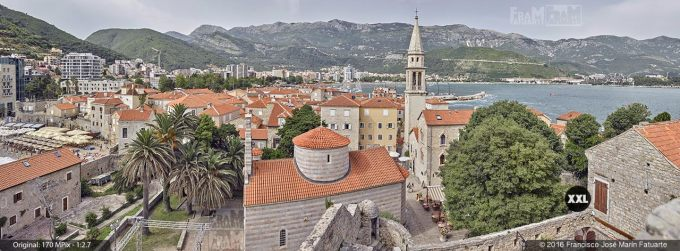 G3771104. View from top of Budva Citadela (Montenegro)