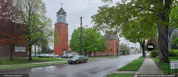 I6569403. Clock Tower and Post Office, Gananoque, ON. Canada