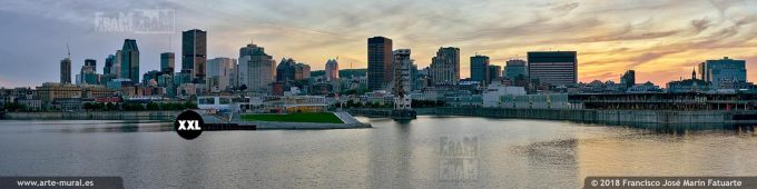 IF652765. Sunset Skyline and old Port. Montréal. Canada
