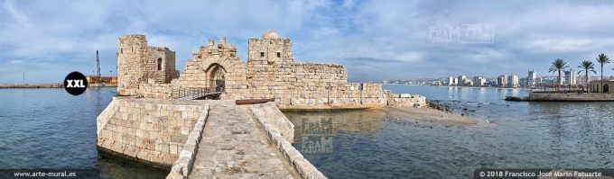 IF120905. Crusaders Sea Castle. Sidon, Lebanon