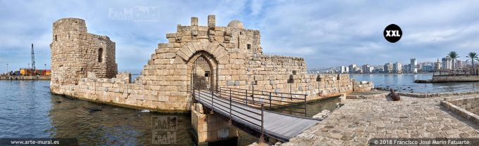 IF121905. Crusaders Sea Castle. Sidon, Lebanon