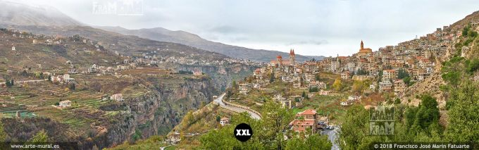 IF205807. Aerial view of Bsharri. Lebanon