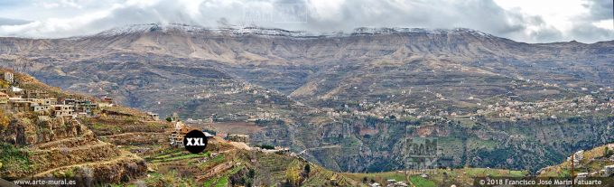 IF233507. Kadisha Gorge panoramic view. North Governorate, Lebanon.