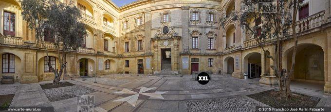F2774906. Forecourt of Palazzo Vilhena. Mdina