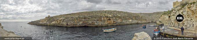 F2804415.Boats at Wied iż-Żurrieq harbour
