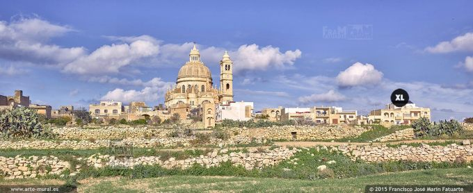 F2891101. Xewkija and Rotunda church. Gozo