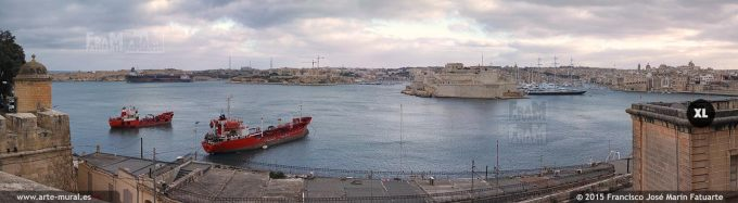FQ033004. View from Valletta. Fort St. Angelo