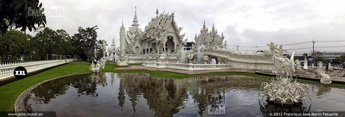 CDL414703. Wat Rong Khun Buddhist temple in Chiang Rai, Thailand